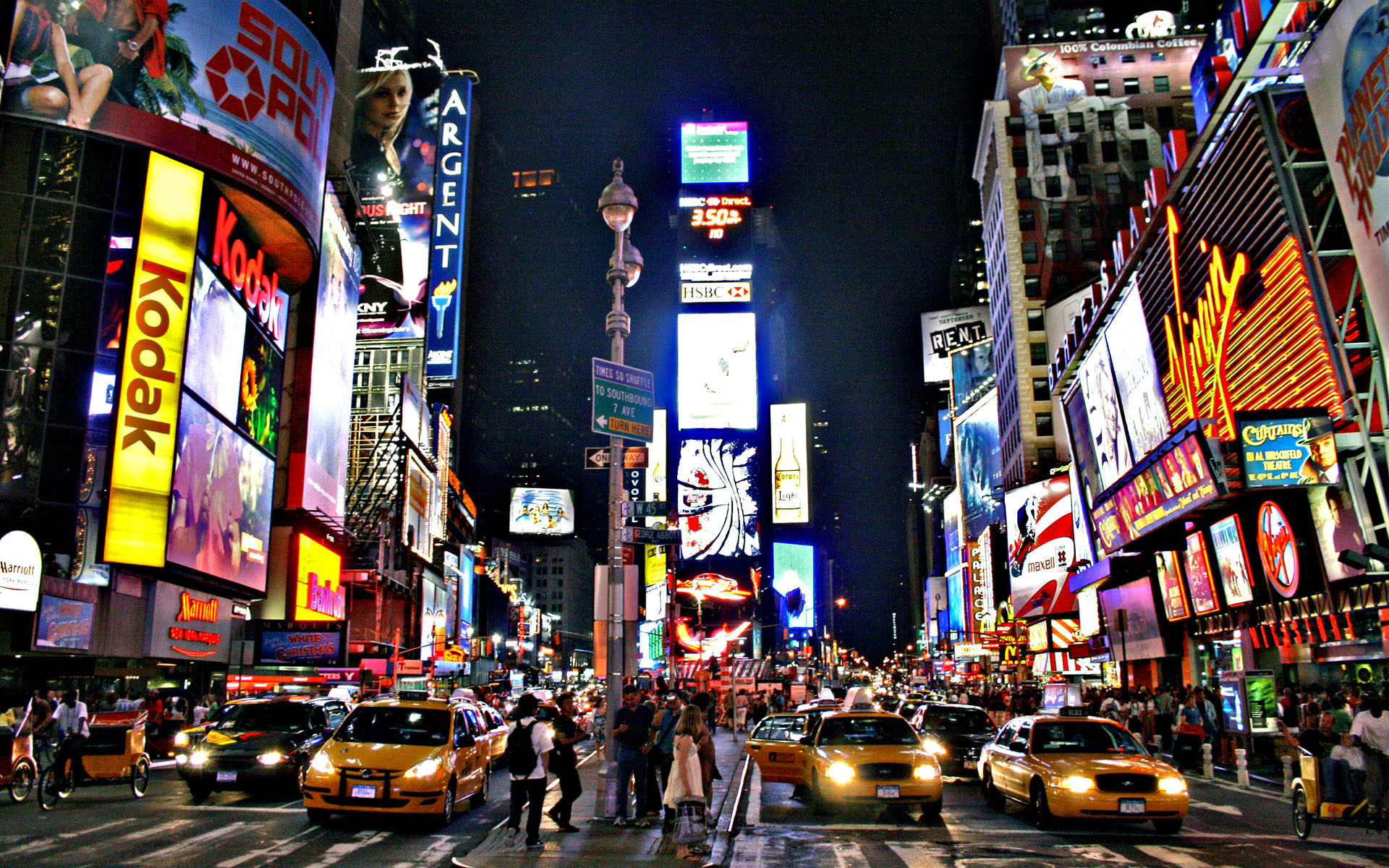 Times Square Wallpaper iPhone.