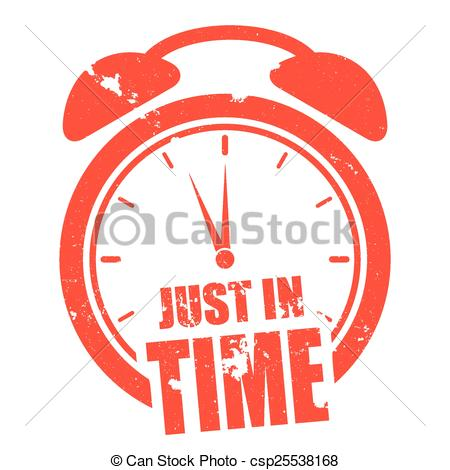Clip Art Vector of just in time.