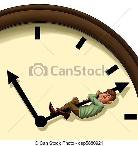 Clipart of stopping the time.