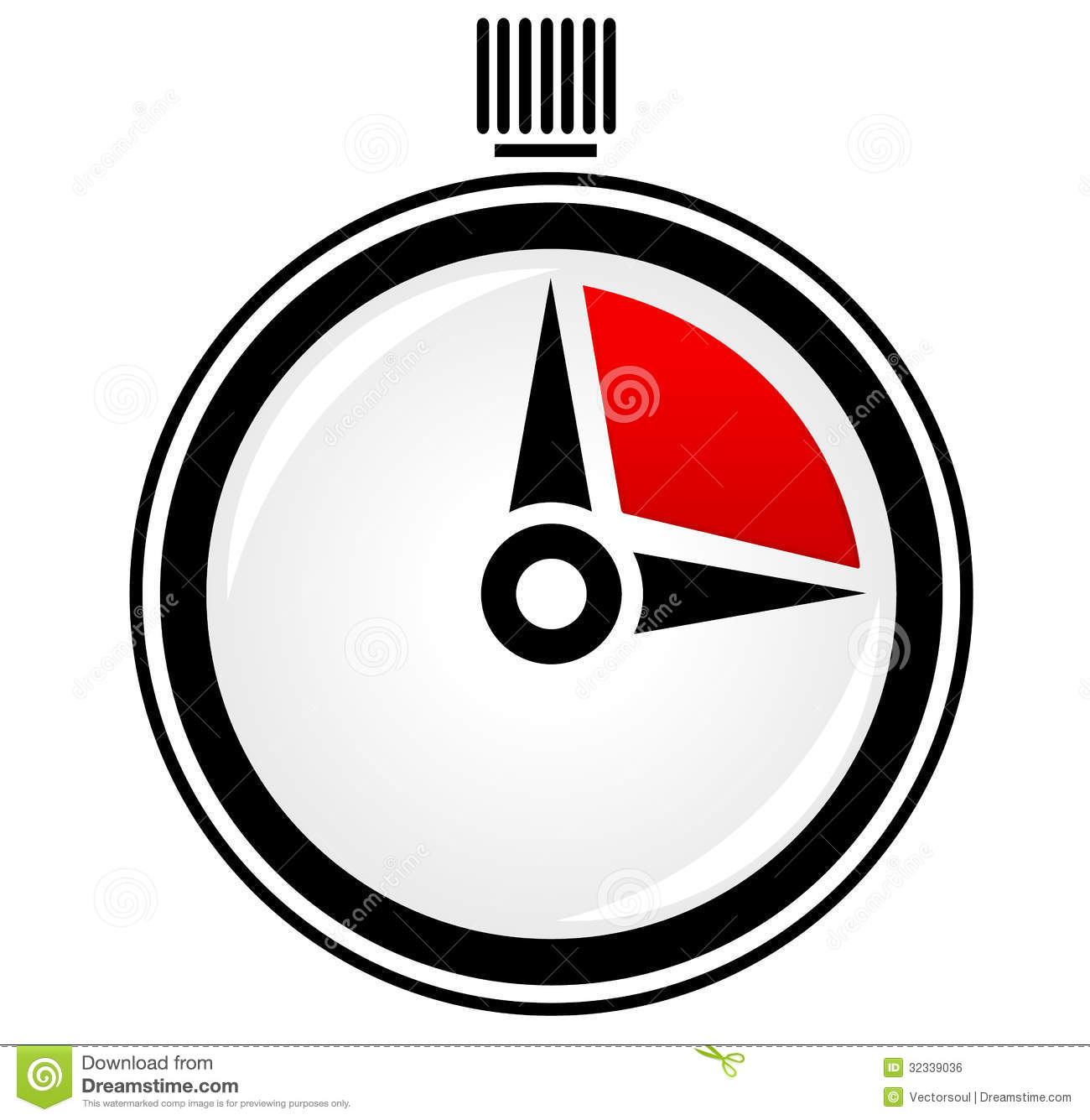 Timer, Stopwatch, Time Concept Vector Royalty Free Stock Image.