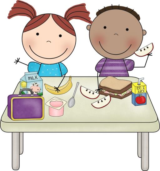 Healthy breakfast for kids clipart.