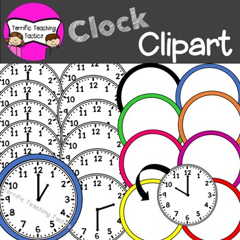 Clock Clip Art (Telling Time to the Hour/Half Hour).