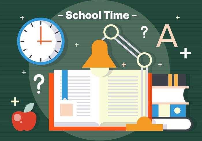 Free School Time Vector Illustration.