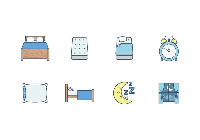 Free Sleep Time Vector Icon.
