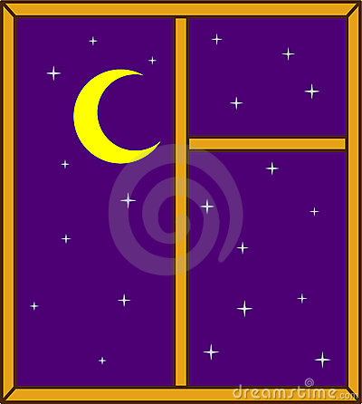 Night Sky Through Window Royalty Free Stock Photo.