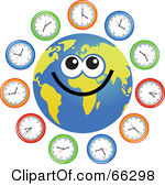 Time zone clipart.