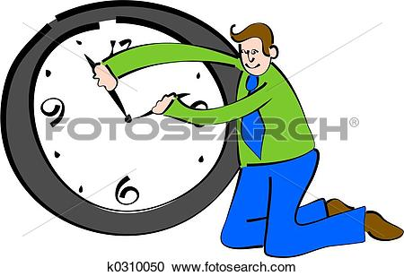 Stock Illustrations of time keeper k0310050.
