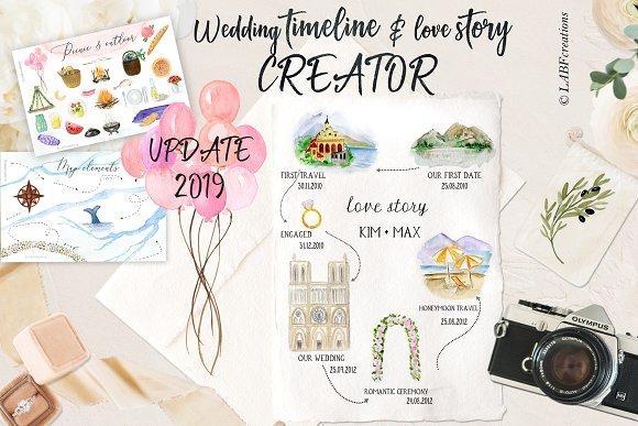 Wedding timeline, map story creator.