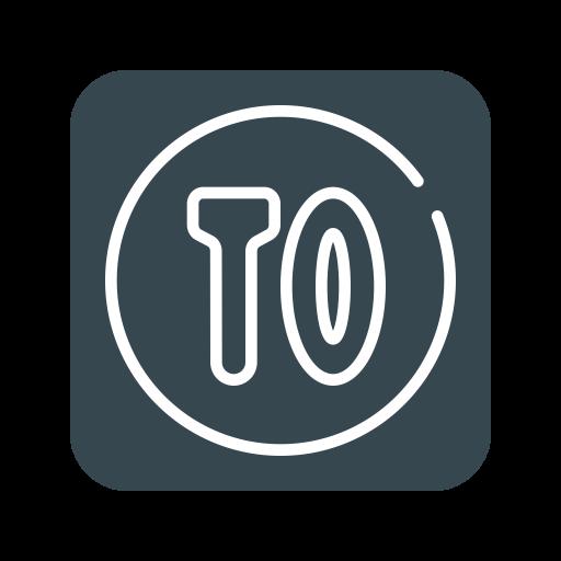 Timeout app Logo Icon of Flat style.