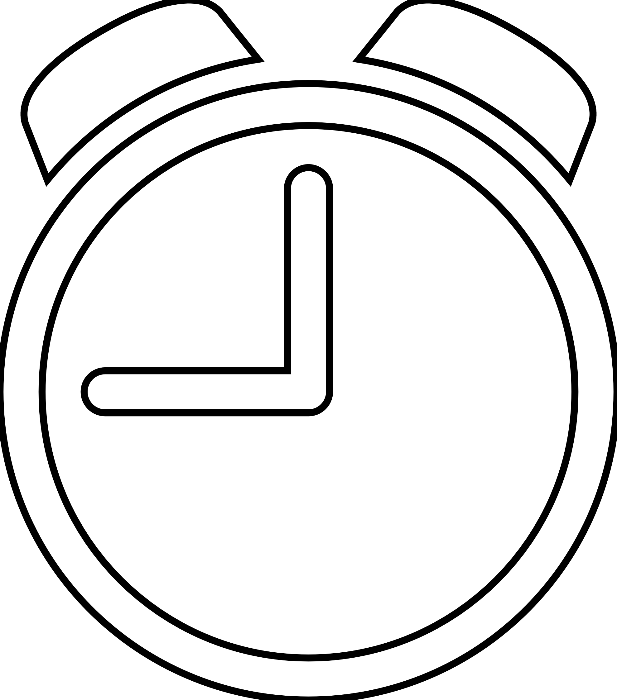 Timer Clipart Black And White.