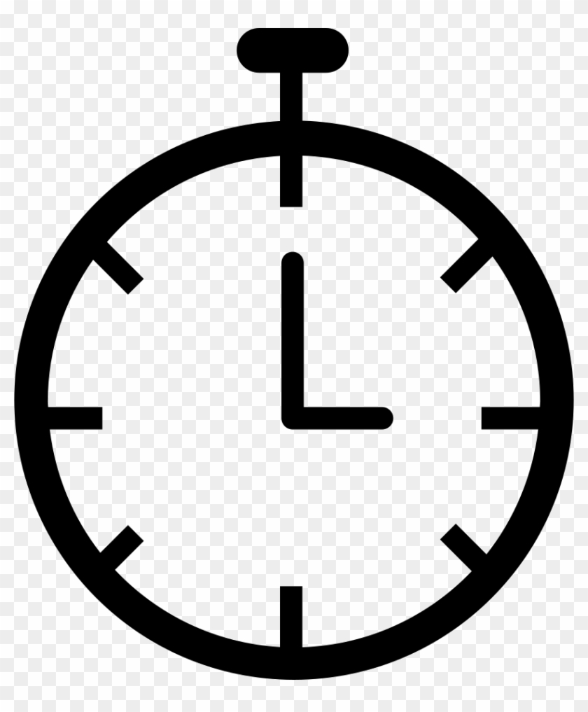 Chronometer Clock Png Icon.