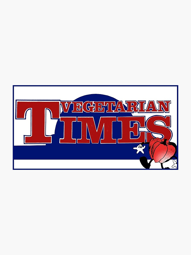 Vintage Vegetarian Times Magazine Logo.