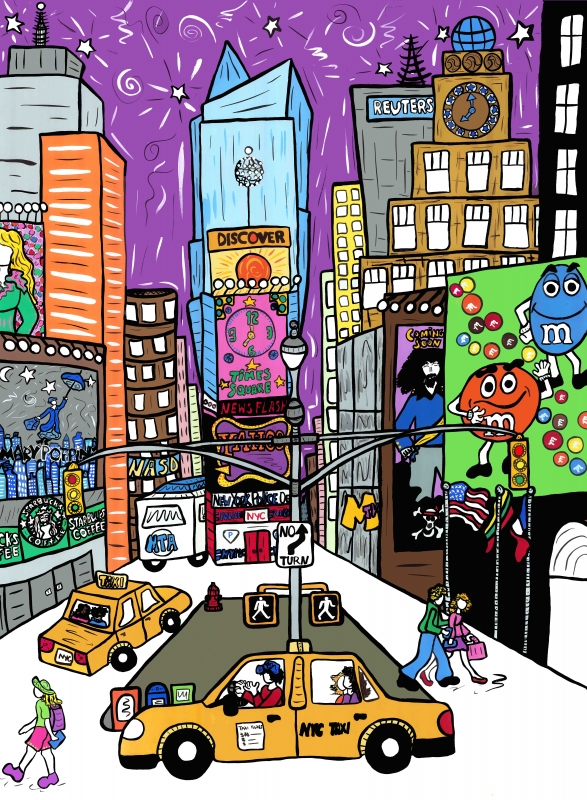Times Square Wall Art.