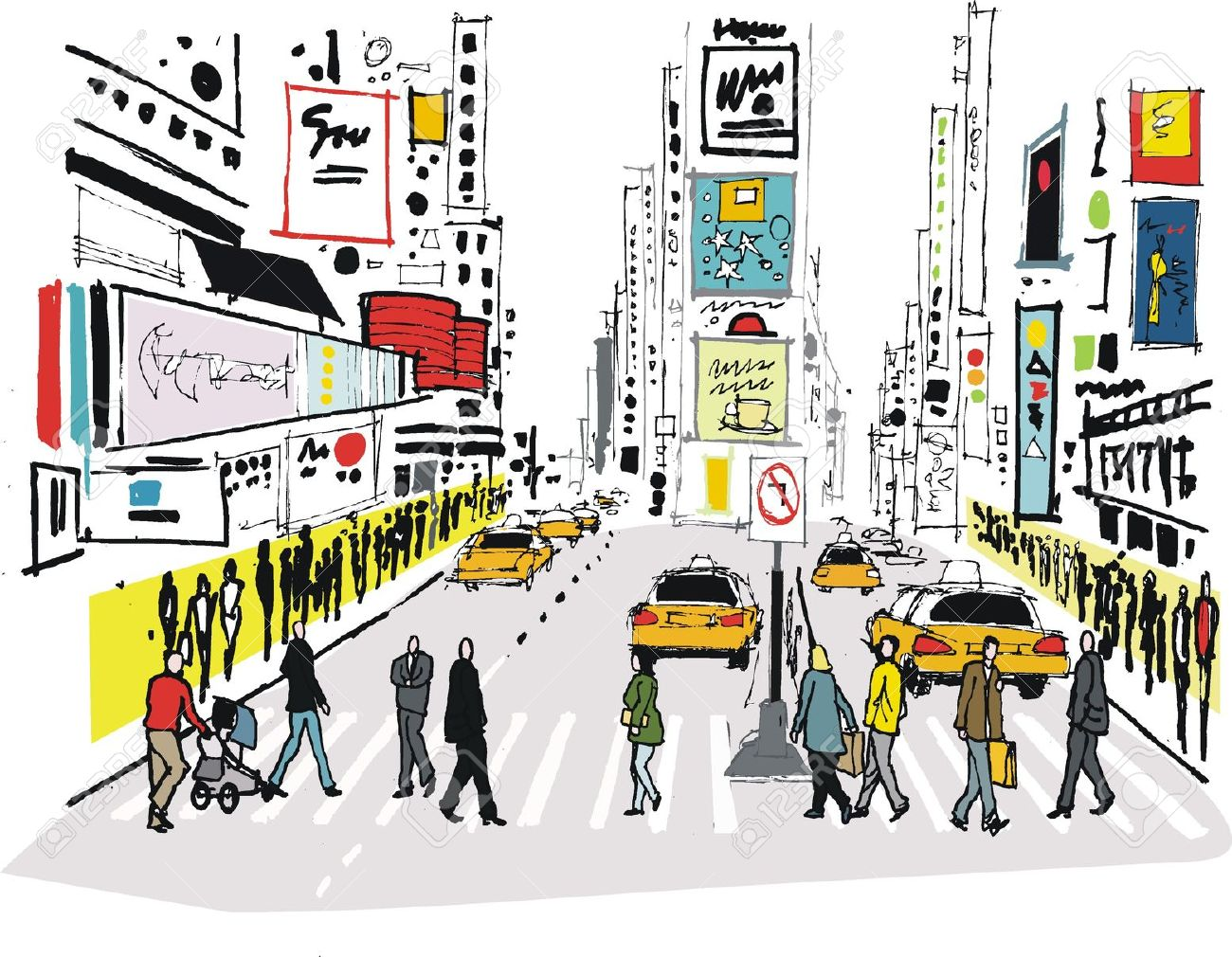281 Times Square Stock Illustrations, Cliparts And Royalty Free.