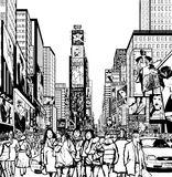 New York City Manhattan Times Square Stock Illustrations.