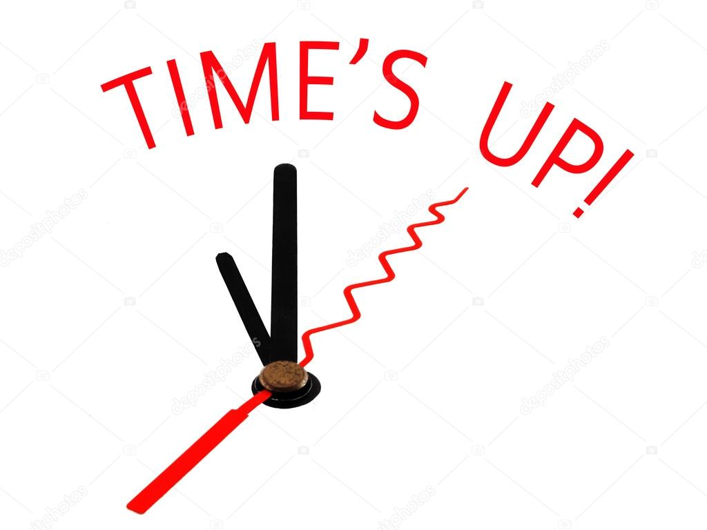 Time\'s Up Clipart.