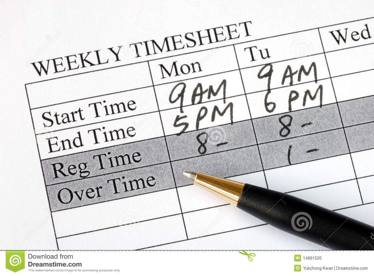 time sheet for payroll..