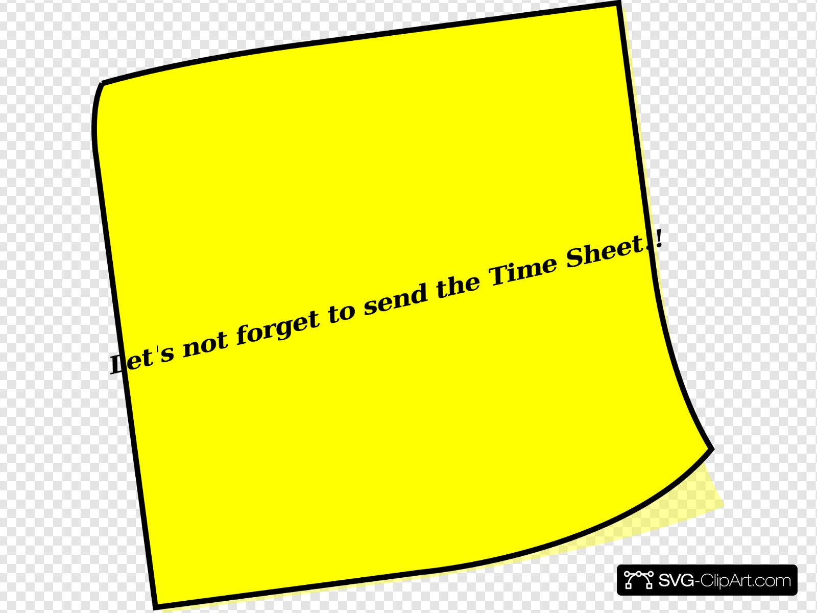 Timesheet Reminder Clip art, Icon and SVG.