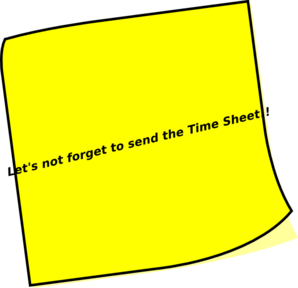 Timesheet Reminder Clip Art at Clker.com.