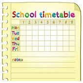 Timetable Clip Art.