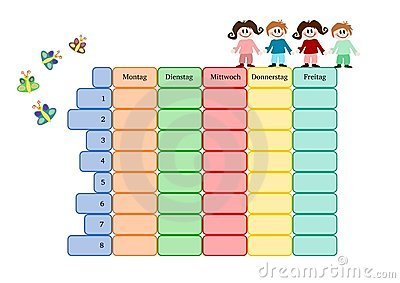 Timetable Clipart.
