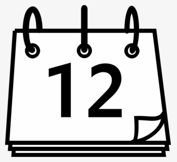 Free Calendar Black And White Clip Art with No Background.