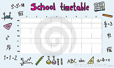Timetable Stock Illustrations.