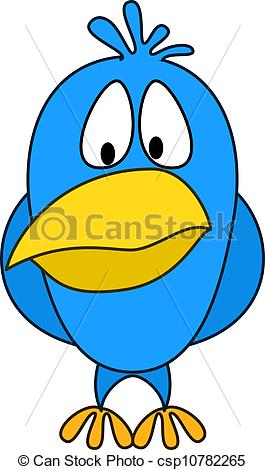 Clip Art Vector of Timid chicken.