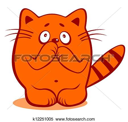 Stock Illustration of timid cat k12251005.