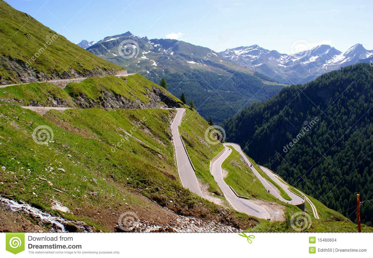 The Timmelsjoch Alpine Road In Italy Stock Images.