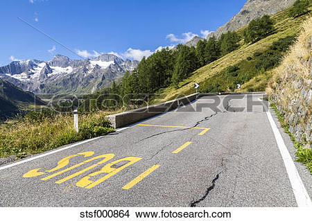Stock Photo of Italy, South Tyrol, Passeier Valley, mountain pass.