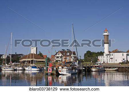 "Stock Photograph of ""Harbour and a lighthouse, Timmendorf, Poel."