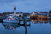 Picture of Port of Timmendorf at dusk, Poel island, Baltic Sea.