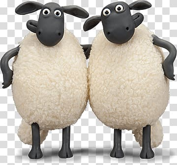 Shaun The Sheep transparent background PNG cliparts free.