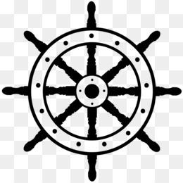 Timón del barco en Barco Clip art.