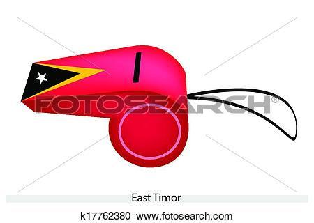 Clipart of A Whistle of Democratic Republic of Timor.