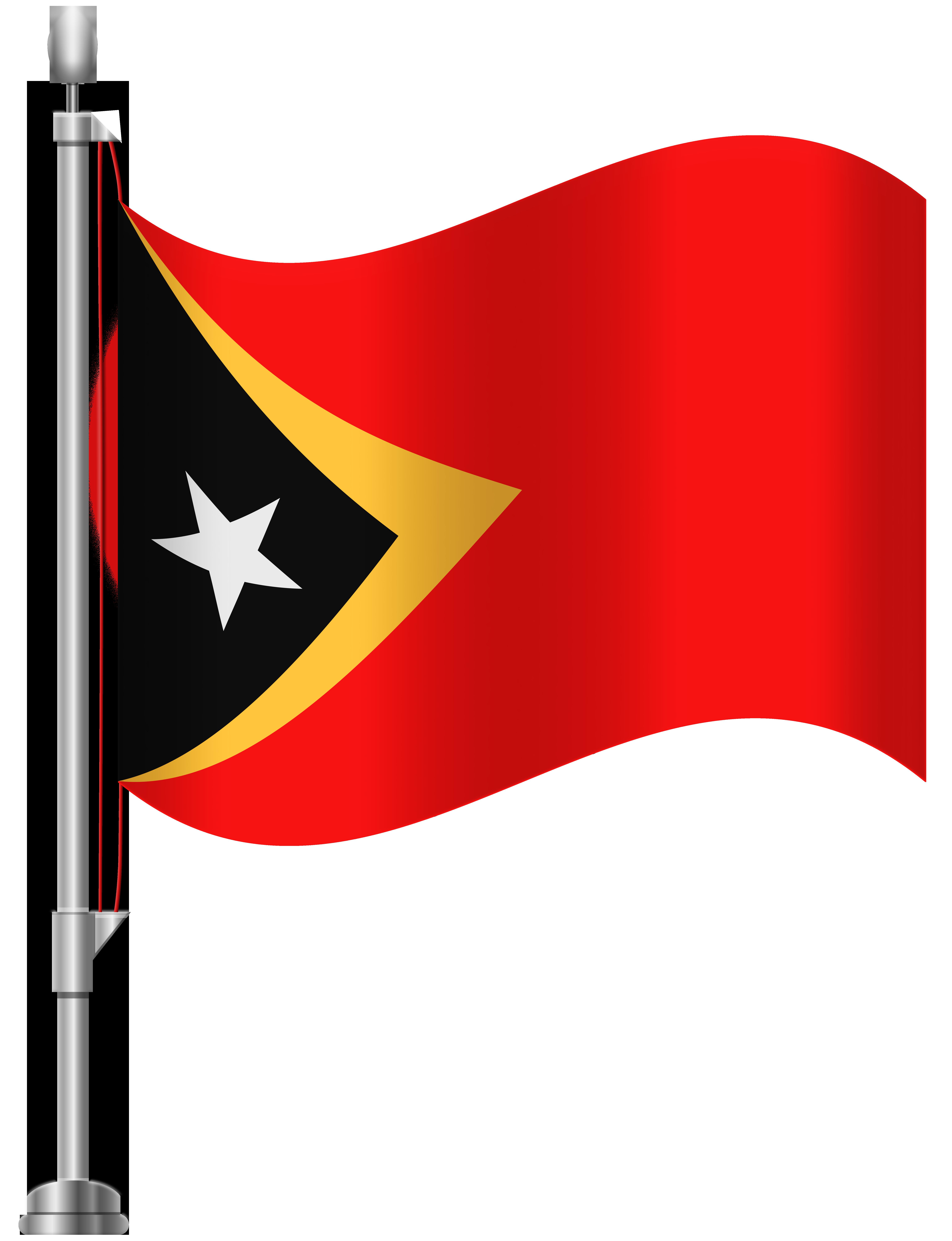 Timor Leste Flag PNG Clip Art.