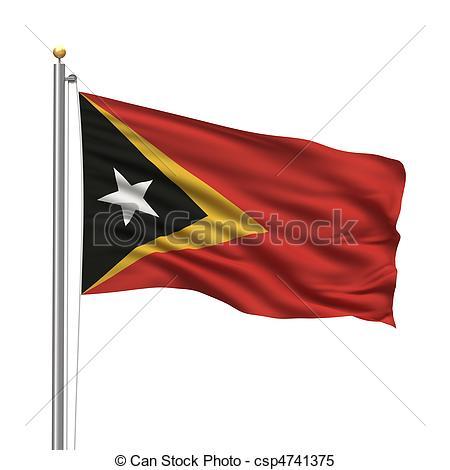Stock Illustrations of Flag of East Timor (Timor.