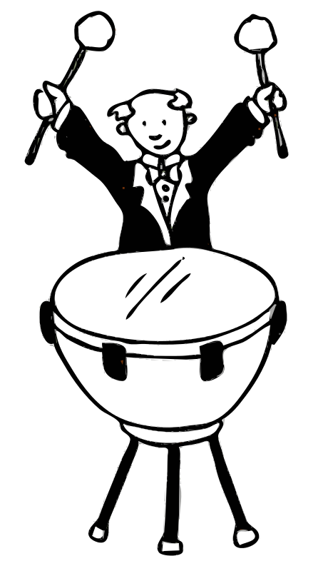 Free Clipart: Timpanist.