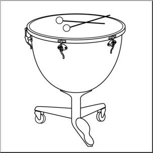 Clip Art: Timpani B&W I abcteach.com.