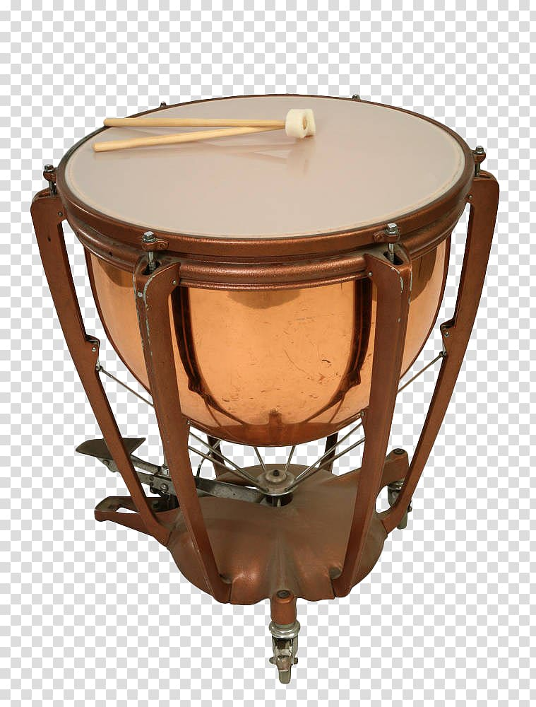 Brown and white drum , Timpani Drums Musical instrument.