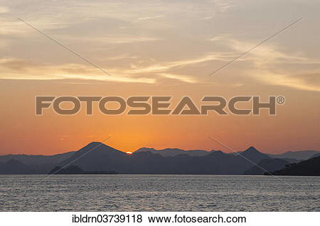Pictures of Sunset on the west coast of Flores Island, Komodo.