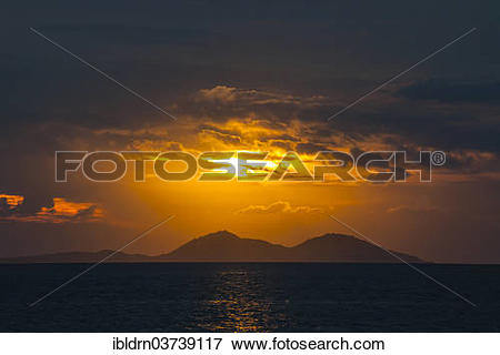 """Picture of """"Sunset on the west coast of Flores Island, Komodo."""