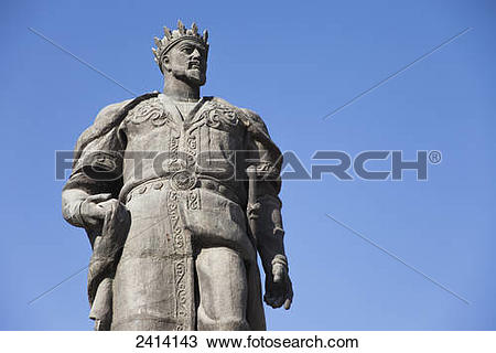 Stock Photo of Statue of Amir Timur the Great (Tamerlane.