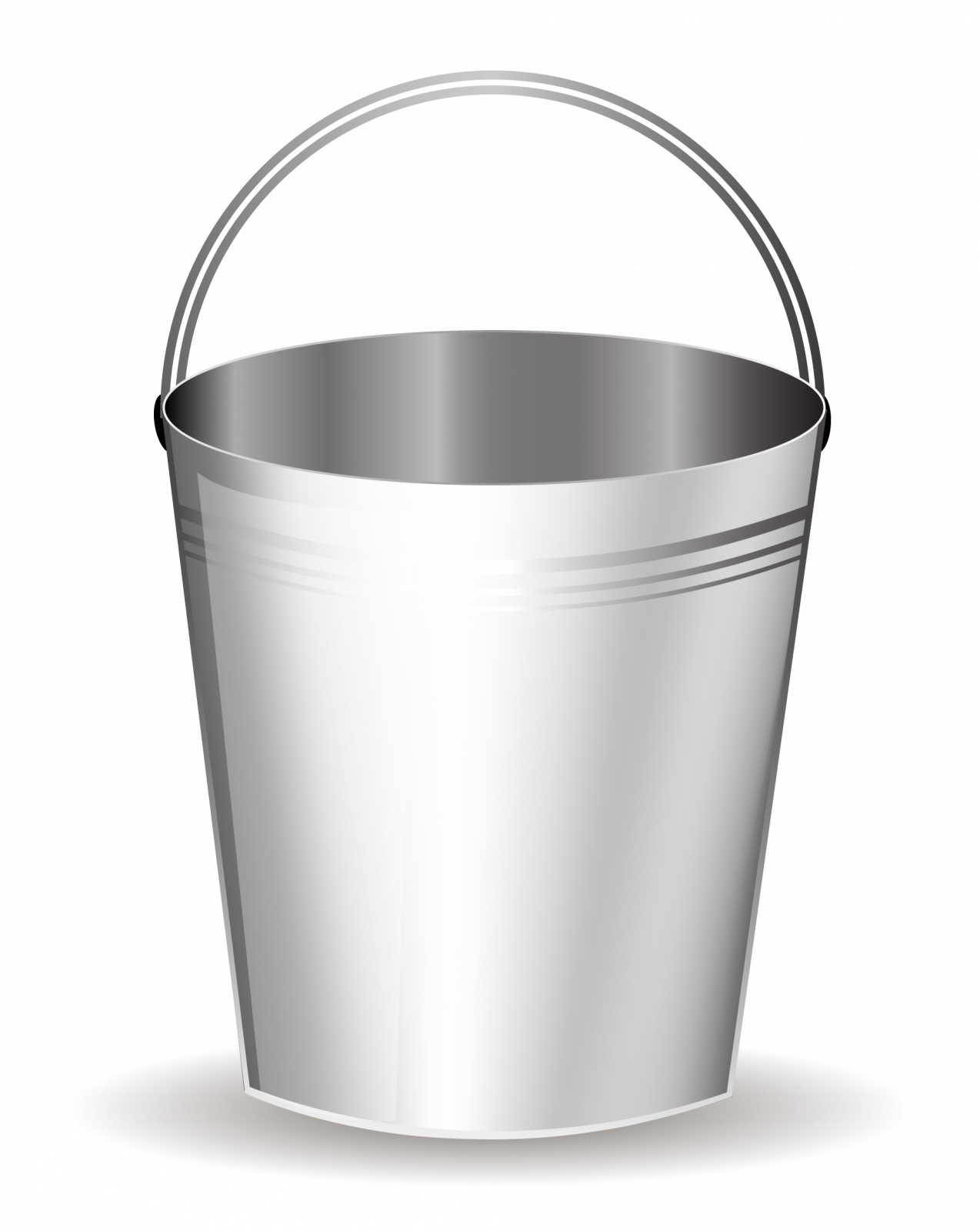 Metal Bucket Clipart.