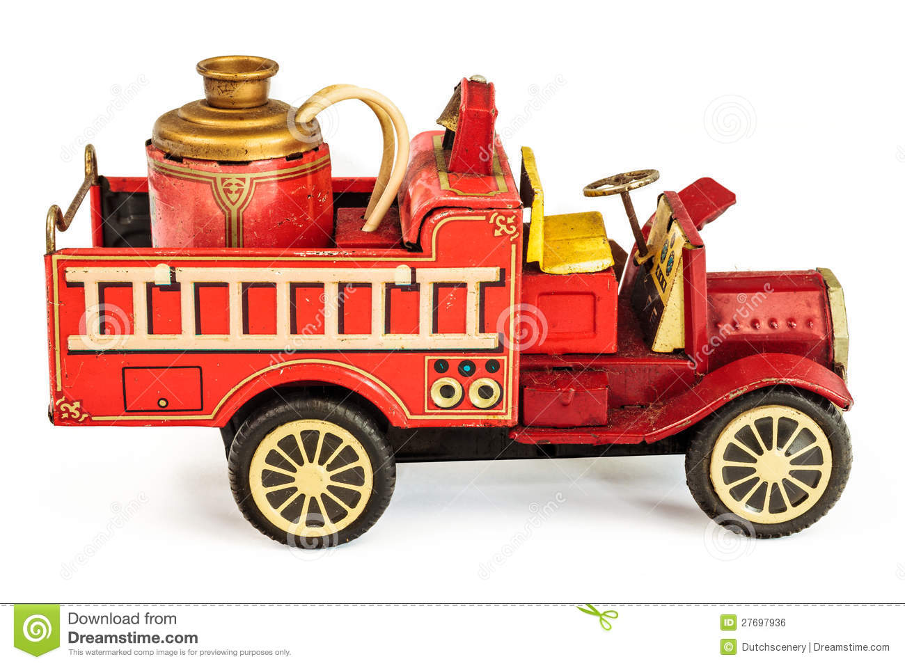 Toy fire truck clipart.