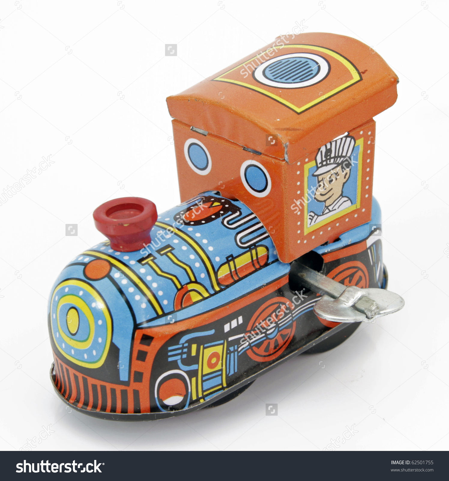 Old Tin Toy Train Stock Photo 62501755 : Shutterstock.