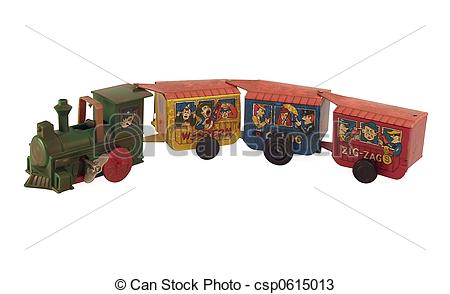Stock Photos of Tin toy Train.
