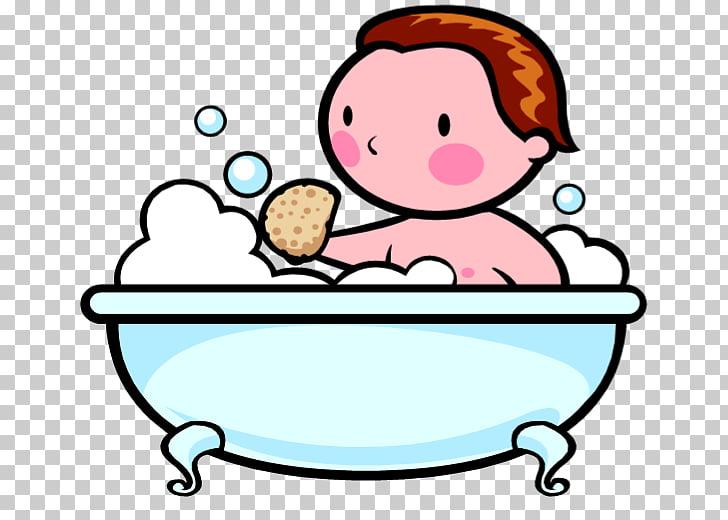 Libro para colorear baño bañera niño, burbuja de baño PNG.