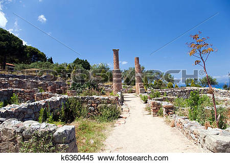 Stock Image of Archaeological ruins, Tindari, Sicily k6360445.